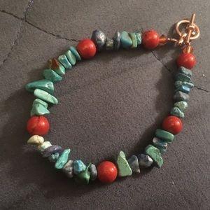 Turquoise & Jasper bead bracelet